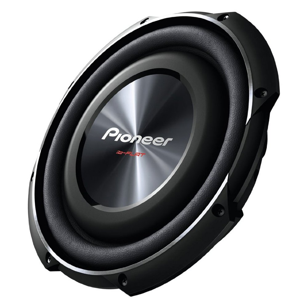 Pioneer 10 Inch 1200 Watt Max Car Audio Shallow Mount Subwoofer | TS-SW2502S4
