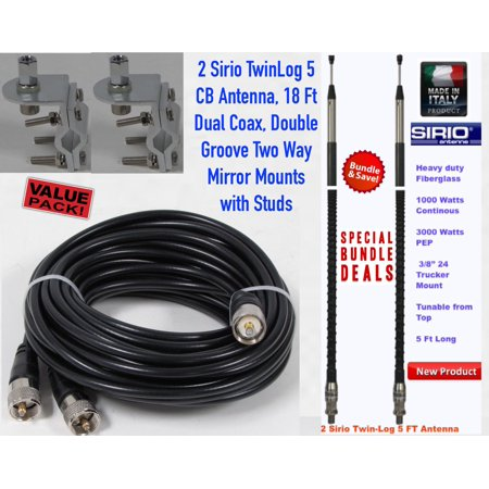 Admirable Dual Sirio Twin Log 5 5Ft 3000 Watt Cb Antenna Kit Walmart Com Wiring Digital Resources Xeirawoestevosnl