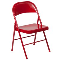 "30.5"" Red Series Double Braced Metal Folding Chair"
