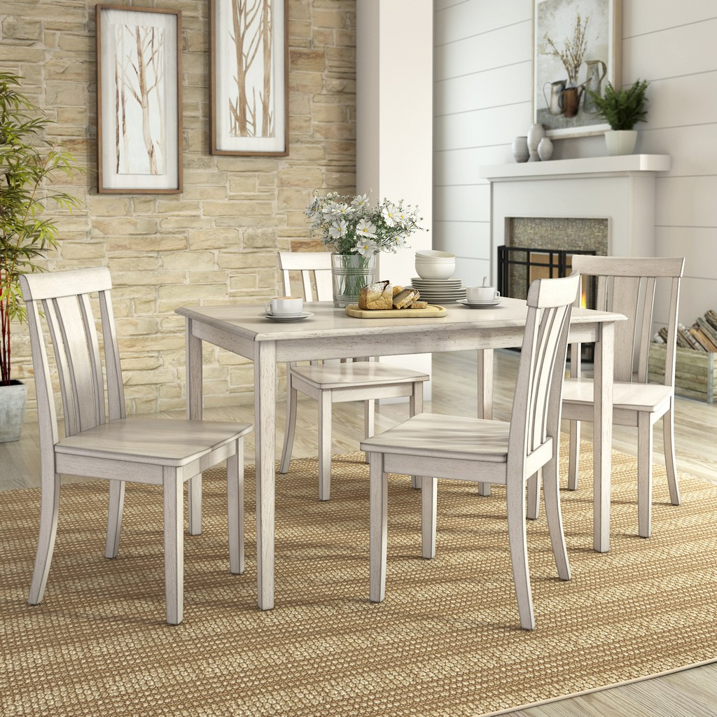 """lexington 5piece dining set with 48"""" dining table and 4"""