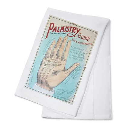 Salem, Massachusetts - A Picture of Good Health - Vintage Palmistry Chart Lithograph (100% Cotton Kitchen Towel)