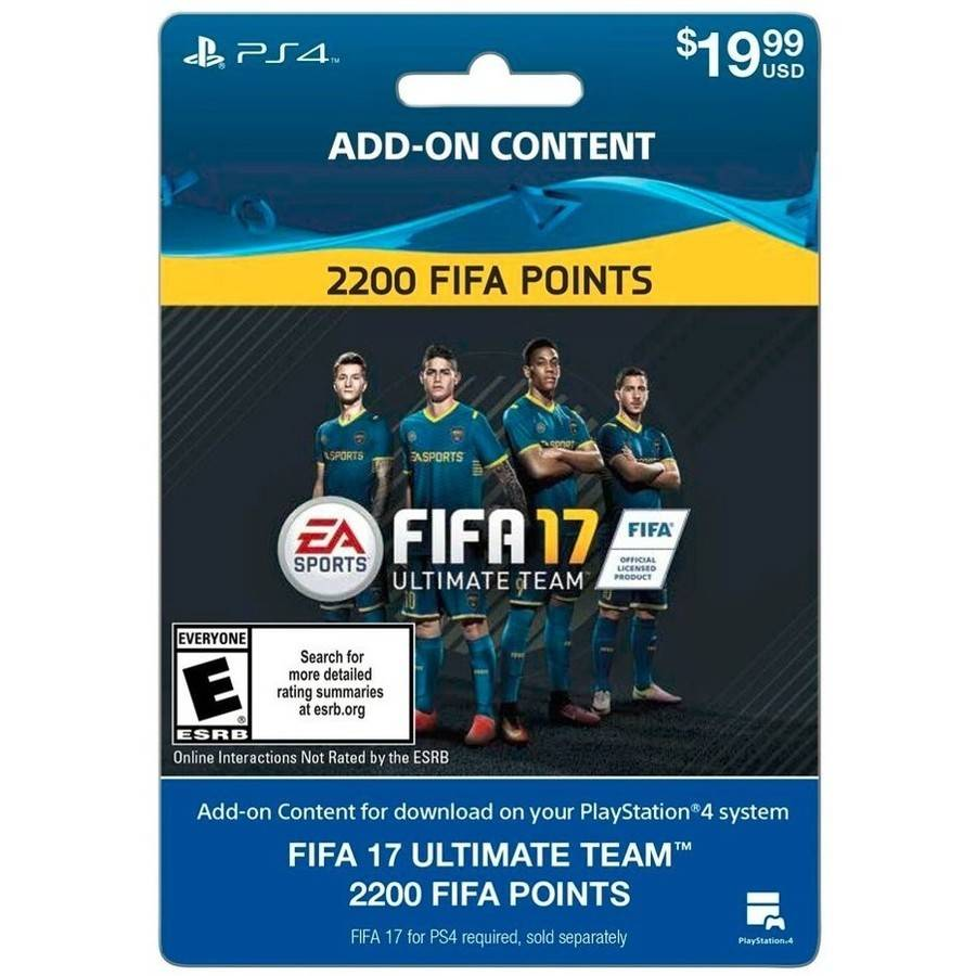 FIFA 17 Ultimate Team FIFA Points 2200 Sony