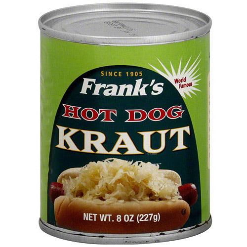 Frank's Hot Dog Kraut, 8 oz (Pack of 12)