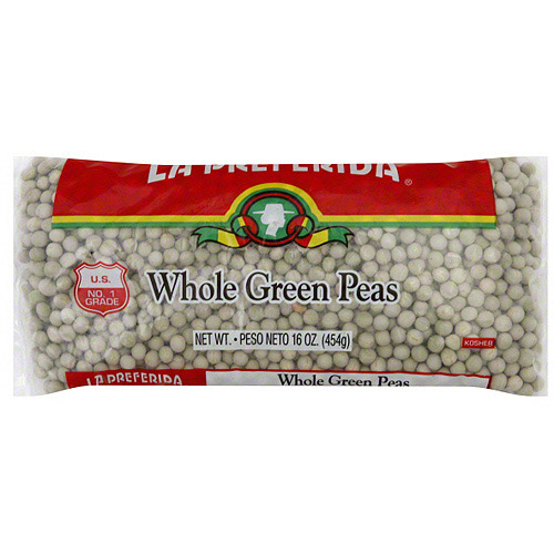 La Preferida Whole Green Peas, 16 oz (Pack of 24)
