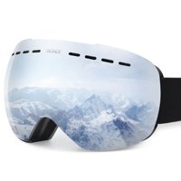 Gonex Ski Goggles OTG Anti-fog Windproof UV Protection Snowboard Goggles with Box for Men & Women