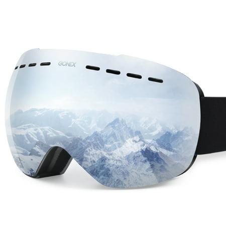Gonex Ski Goggles OTG Anti-fog Windproof UV Protection Snowboard Goggles with Box for Men & Women (Snowboard Goggles Von Zipper)