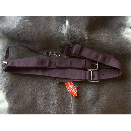 (Horse Horse Western Riding Cinch Girth Brown Nylon Web Flank Strap 97F02)