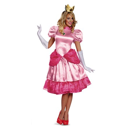 Princess Peach Super Mario Brothers Nintendo Womens Costume DIS73747 - Small (4-6)](Mario And Peach Costumes)