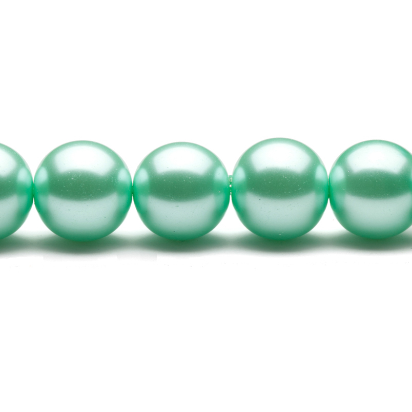 16mm Blue Round Glass Pearl 16Inch/pack (2-pack Value Bundle), SAVE $1