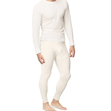 P&S Mens 2pc Thermal Underwear Set Waffle Knit Cotton Long John Shirt and Pants