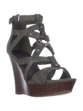 3d8a949a2b37 Product Image Womens G by GUESS Dodge Strappy Wedge Sandals