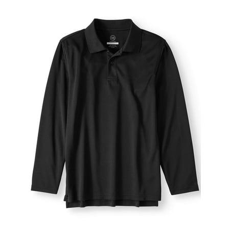 Wonder Nation Boys 4-18 School Uniform Long Sleeve Performance Polo Shirt State Long Sleeve Polo