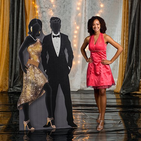 7 ft. Sequins & Bow Ties Couple Standee