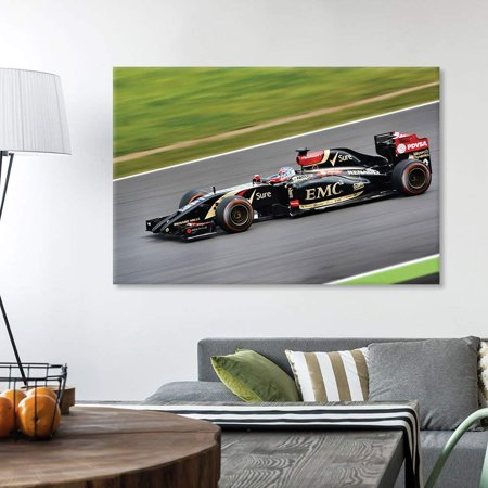 wall26 - Canvas Wall Art Sports Theme - Auto Racing Car - Giclee Print Gallery Wrap Modern Home Decor Ready to Hang - 16x24 inches - Car Themed Decor