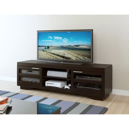 Sonax Granville Wood Veneer TV Stand for TVs up to 80″, Multiple Finishes