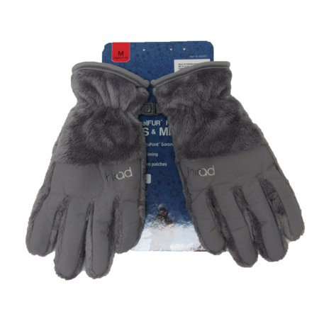 HEAD JR ThermalFUR Fleece Gloves - Child Size - Metallic Silver