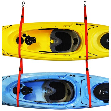 Double Touring Kayak (Auto Racks SlingTwo Double Kayak Storage System, Wall or ceiling installation By)