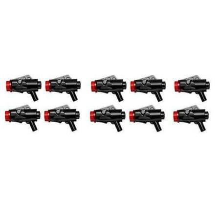 LEGO MINIFIGURE LOT OF 10 STAR WARS FIRST ORDER BLASTER SHOOTER GUNS ACCESSORIES (Lego Star Wars Minifigures Lot)