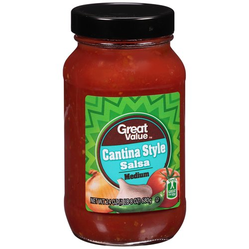 Great Value Cantina Style Medium Salsa, 24 oz