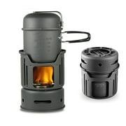 Outdoor Camping Portable Kitchenware Set Hiking Picnic Cooking Utensil Pot Bowl Pan