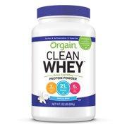 Orgain Grass Fed Whey Protein Powder, Vanilla, 21g Protein, 1.8 Lb