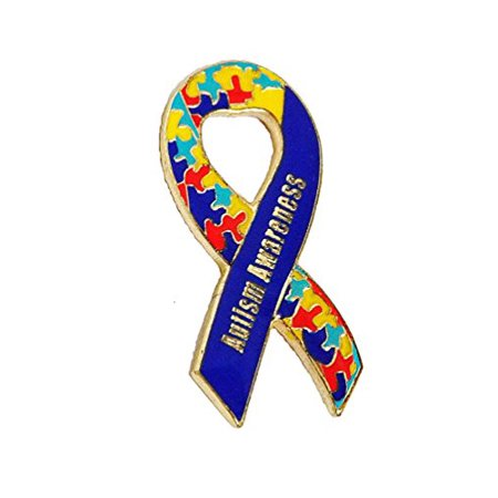 Autism Awareness Ribbon Puzzle Heart Lapel Hat Pins Raise Awareness PPM7003  (1 pin)