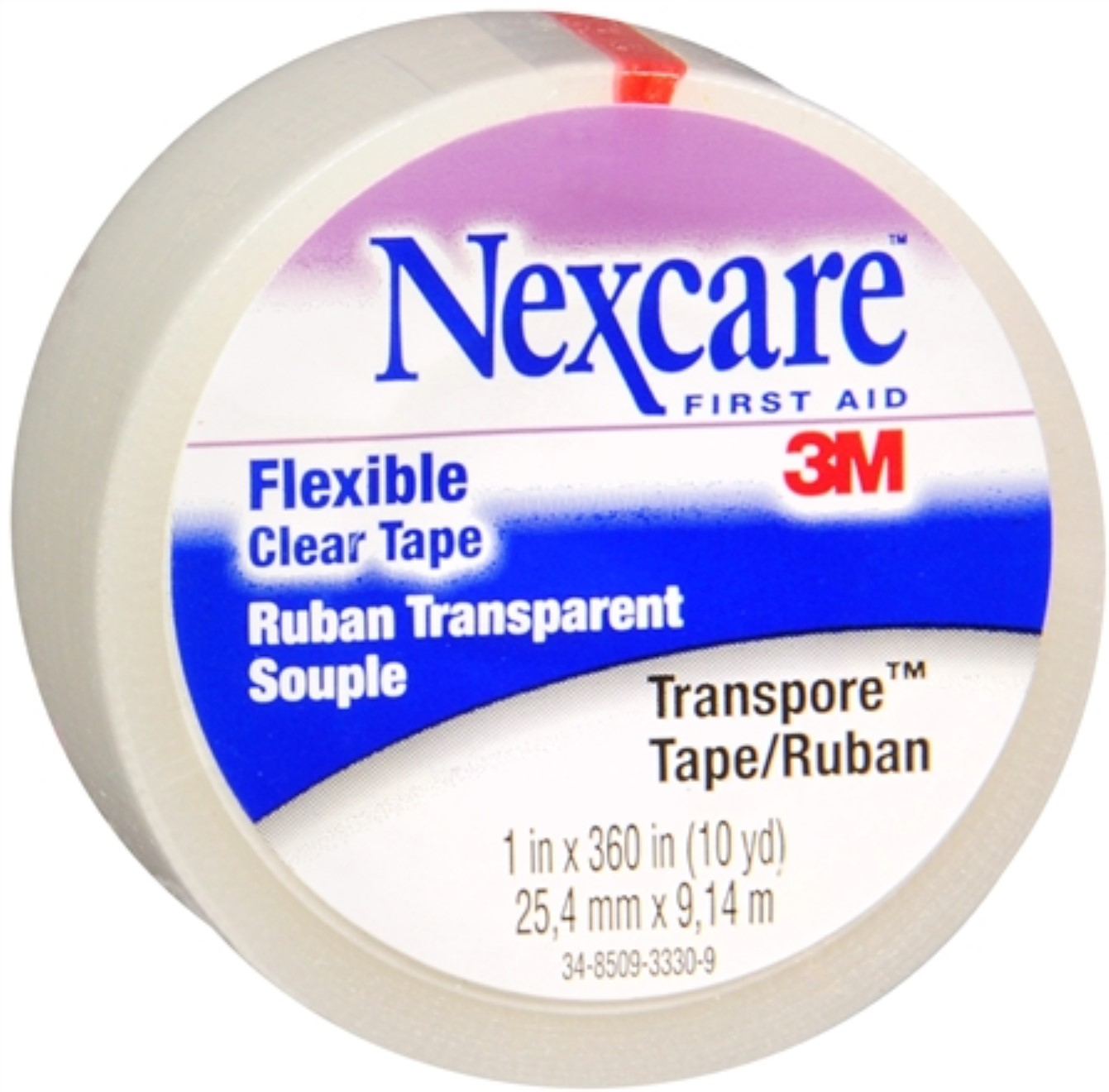 3M Nexcare First Aid Flexible Clear Tape, 1 ea