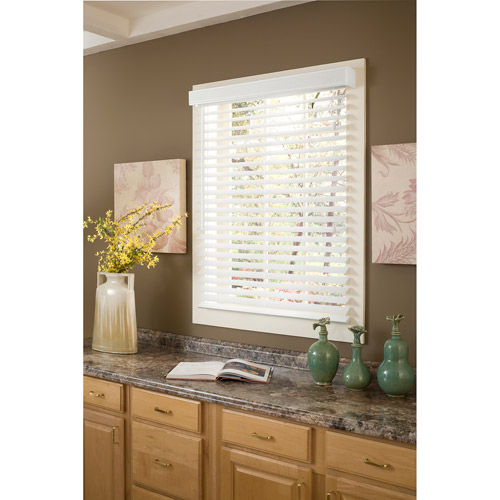 "Richfield Studio 2"" Faux Wood Blinds, White, 10x64 - 40.5x64"