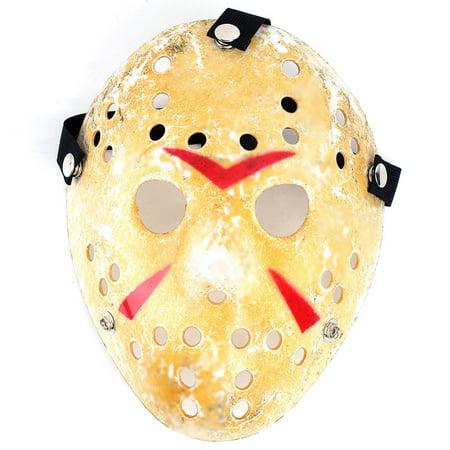 Halloween 4 Replica Mask (Worn Look Hockey Mask Halloween Movie Costume Thick PVC and Elastic)