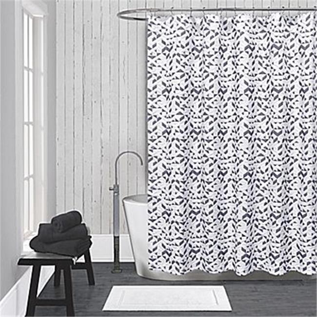 Lamont LBSC82160152 LaMont Home Kinetic Shower Curtain - White & Black