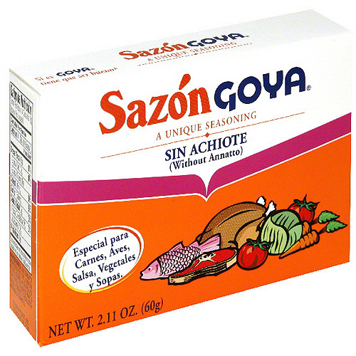 Goya Sazon Flavor Packet Without Annatto, 2.11 oz (Pack of 24)