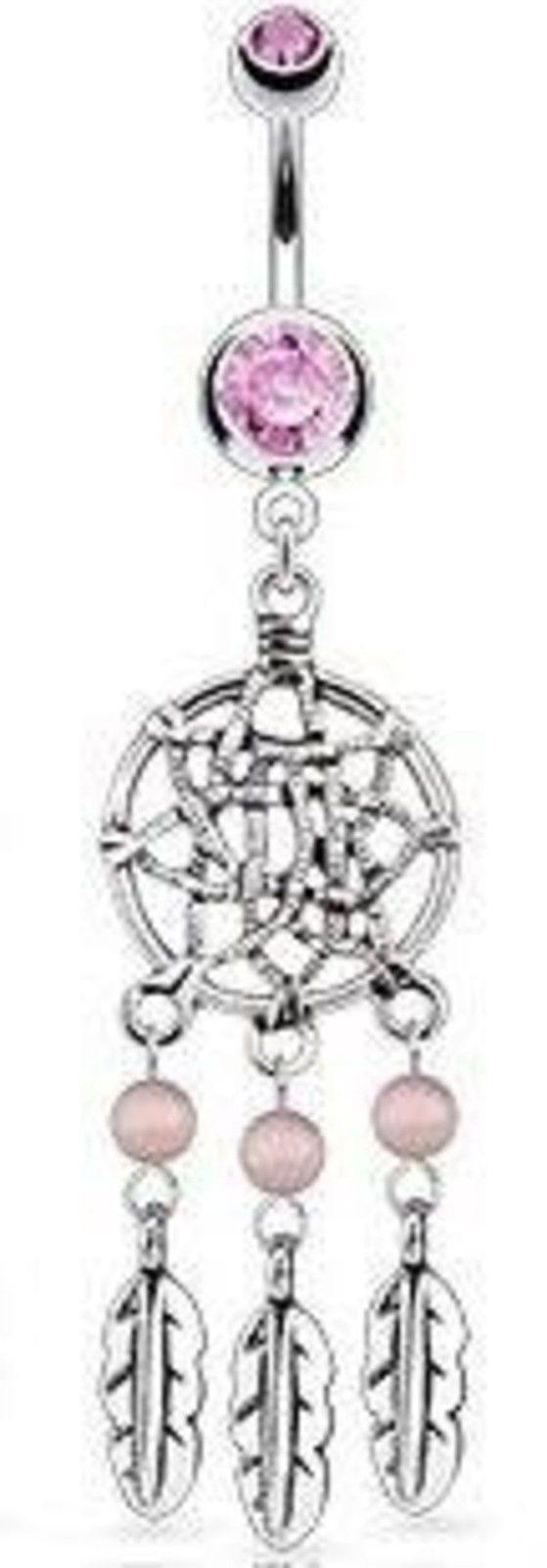 Uhren & Schmuck Body Accentz® Belly Button Ring 316L Surgical Steel Dream Catcher Basket ...