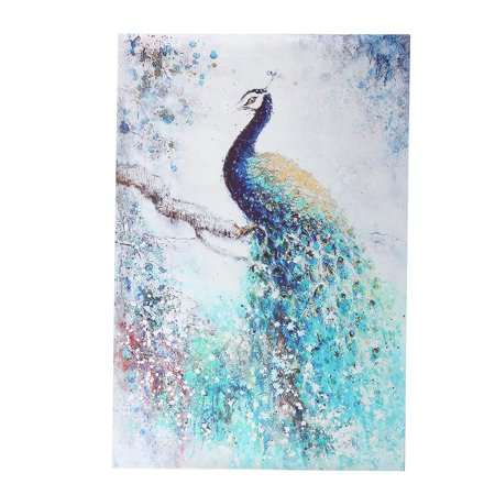 236x157 Modern Unframed Canvas Print Peacock Painting Wall