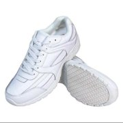 GENUINE GRIP 1115-6M Athletic Shoes,White,Womens,6,M,PR