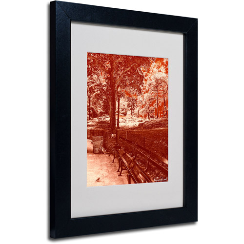 """Trademark Fine Art """"Red Forest"""" Matted Framed Art by Miguel Paredes"""