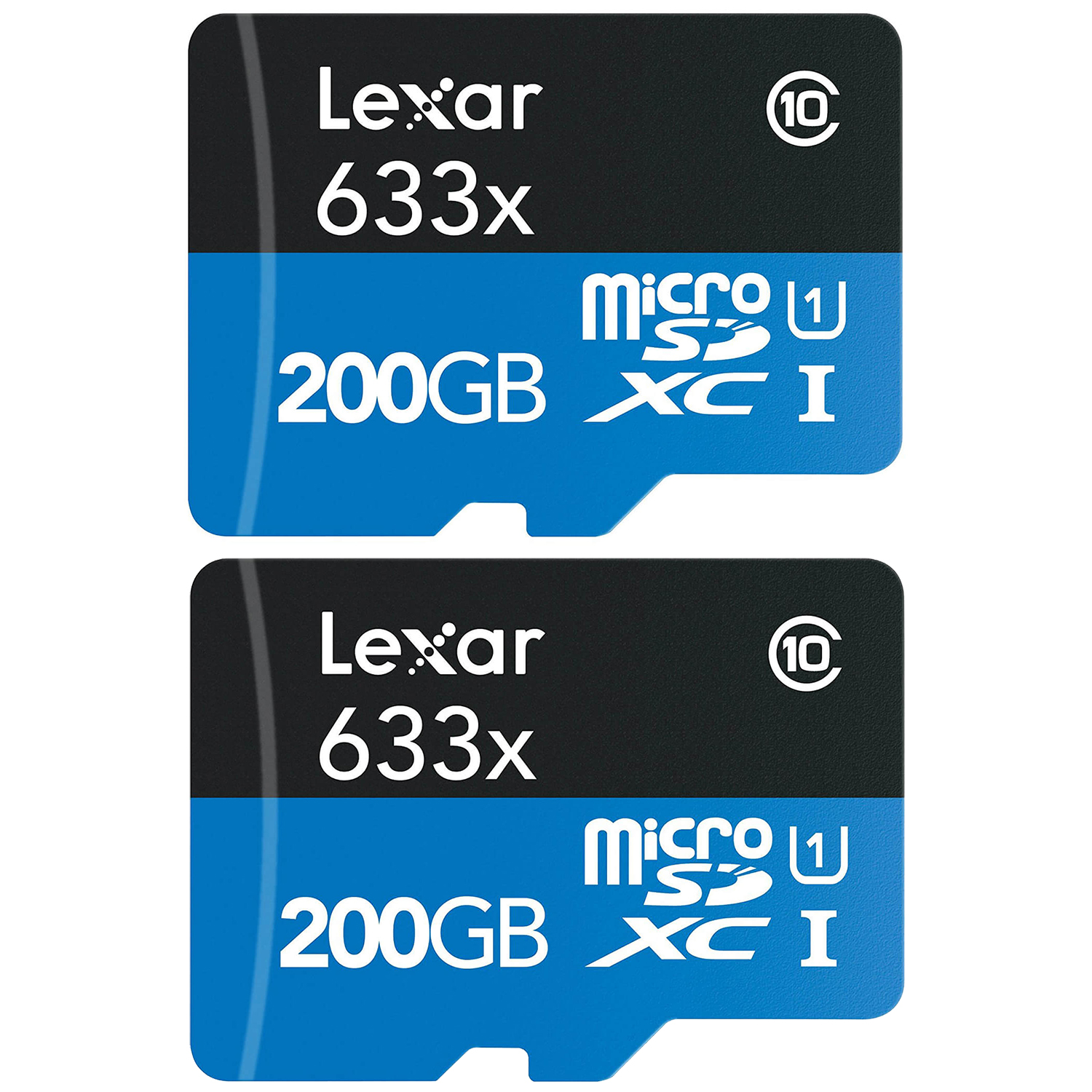 Refurbished 2-Pack Lexar High-Performance microSDXC 633x 200GB Class 10 UHS-I Memory Card by Lexar
