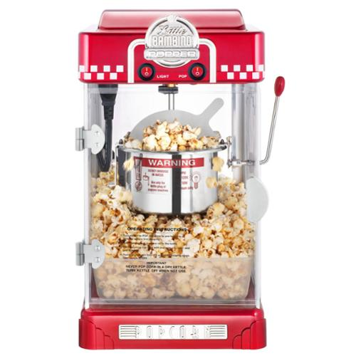 Great Northern Red Little Bambino Table Top Retro Machine Popcorn Popper, 2.5oz