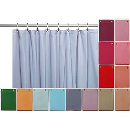 Elegant Home Heavy Duty Vinyl Shower Curtain Liner With 12 Metal Grommets Morning Glory