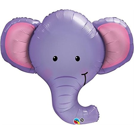 Ellie The Elephant 39 Inch Qualatex Foil Balloon](Elephant Balloons)