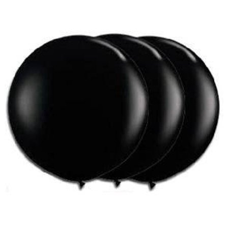36 Inch Giant Round Black Latex Balloons by TUFTEX (Premium Helium Quality) P...