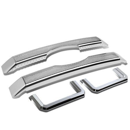 For 11-16 F250/F350 SD ABS Plastic Set of 4 Diamond Mesh Style Overlay Covers Front Grille (Chrome) 11 12 13 14 15 16