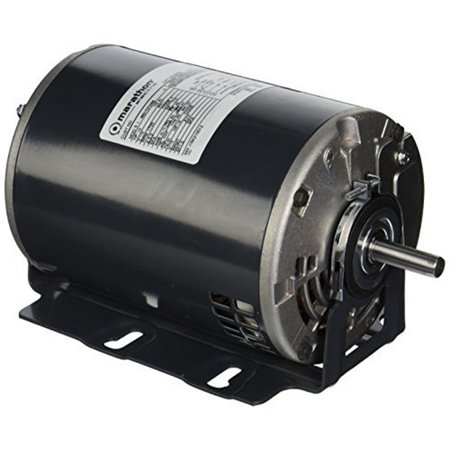 Marathon B402 48Y Frame Totally Enclosed 48S17D7209 Attic Fan Motor, 1/3 hp, 1800/1200 rpm, 115 VAC, 1 Split Phase, 2 Speeds, Ball Bearing, Resilient Base