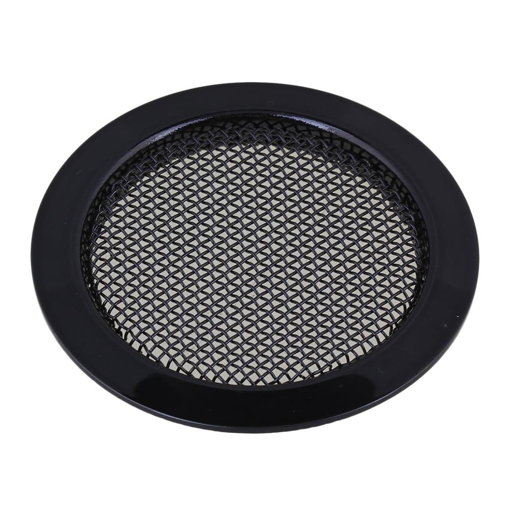BQLZR 2.36'' Diameter Black Alloy Resonator Soundhole Cover Inserts for Dobro Guitar by