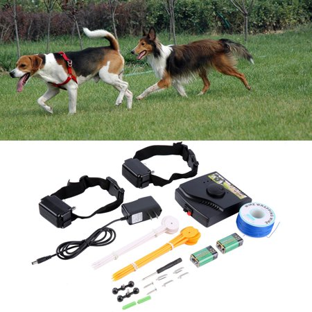 (Waterproof Safety Pet Training Control Underground Electric Device Dog Fence Fencing System 2 Shock Collar)