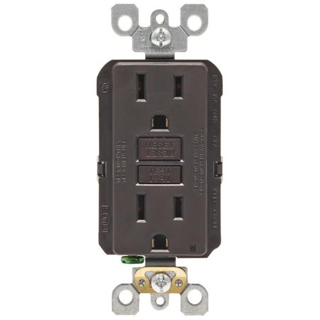 Leviton   GFCI Receptacle  15 amps 5-15R  125 volts Brown