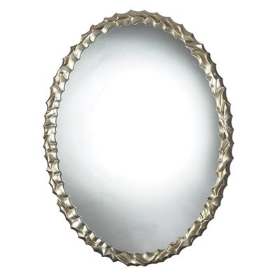 Emery Hill Silver Leaf Oval Mirror 28W x 35H in. by Sterling