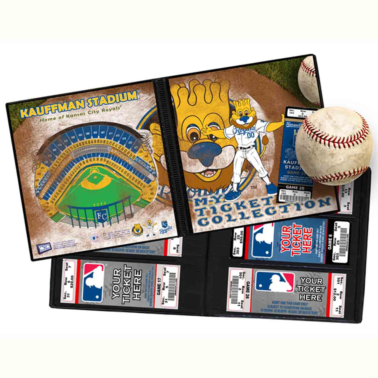 Ticket Album MLB - Kansas City Royals Mascot