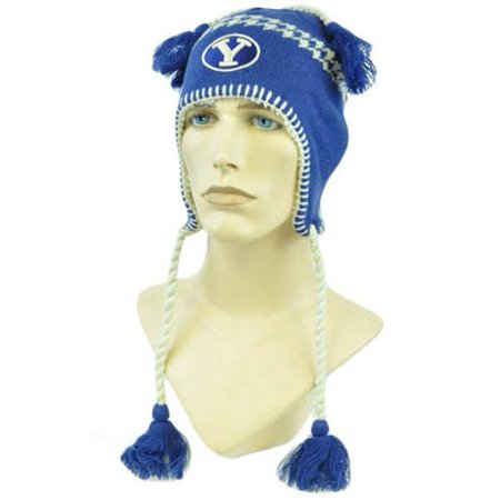 NCAA Zephyr Alpine Tassel Knit Beanie Hat Ear Flaps Toque Brigham Young Cougars Alpine Knit Hat
