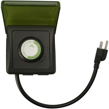 Woods 50012WD Outdoor 24-Hour Heavy Duty Mechanical Plug-In Timer, 2 Grounded