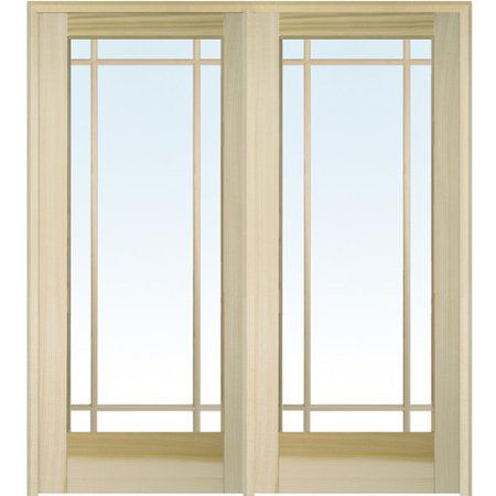 Verona home design wood natural interior french door for Natural wood doors interior